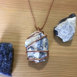 Sodalite and Copper Necklace